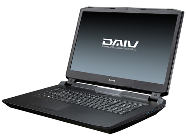 DAIV-NG7610S1-SH5 Core i7/32GBメモリ/480GB SSD+1TB HDD/GeForce GTX1080/17.3型 4K-UHD液晶搭載モデル